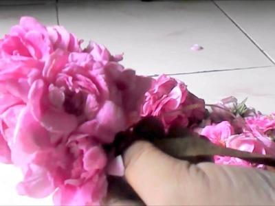 Indian fresh flower - rose garland making | Vinayaka chavithi | Varlakshmi Vratham decoration