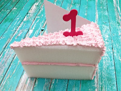Make a Birthday Card that Looks like a Cake Slice!