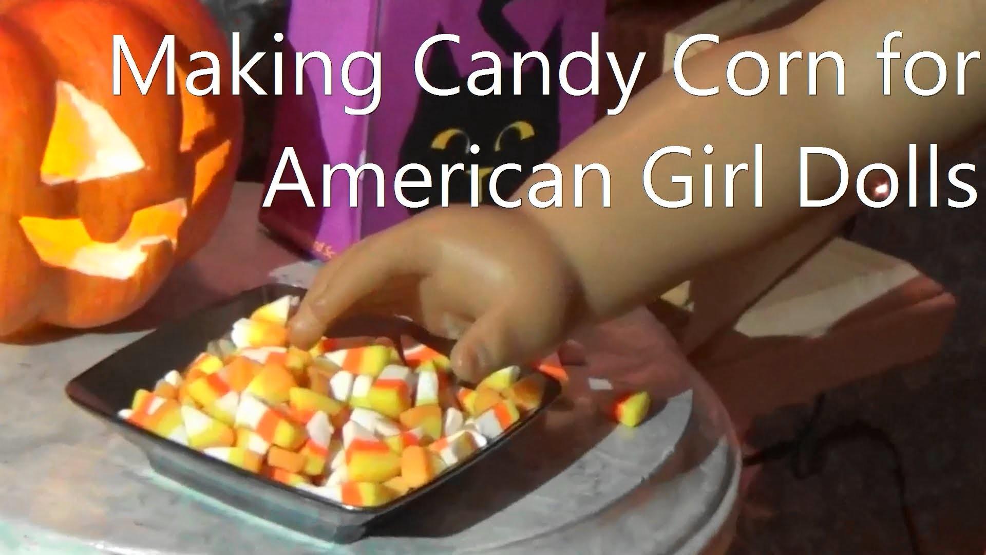 Make Halloween Candy Corn for American Girl Dolls