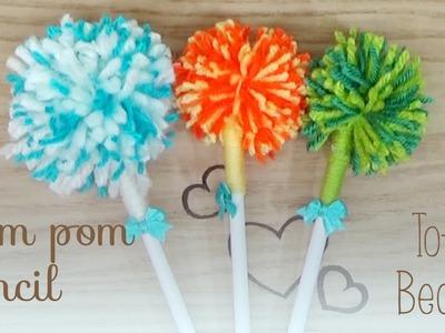 Make your own Pom Pom Pencil - Tofu Beauti