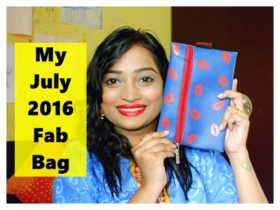 My July 2016 Fab Bag | New Sugar It's A Pout Time! Vivid Lipstick | Indian Mom on Duty