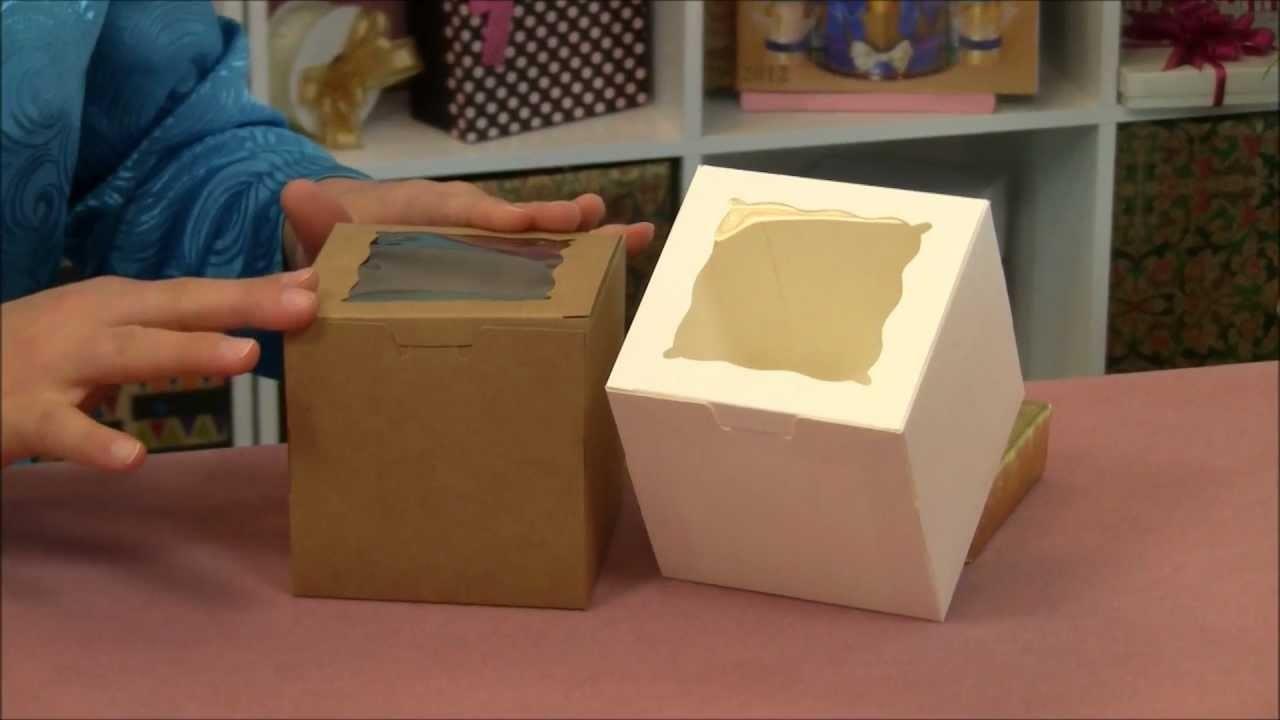 One-Piece-Window-Cupcake-Box-with-Insert.wmv