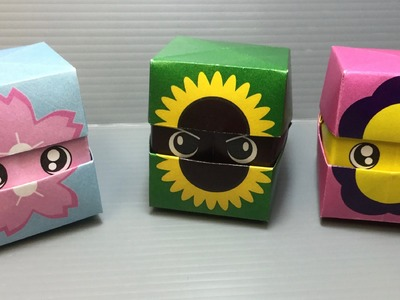 Origami Changing Faces Flower Cube
