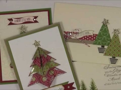 Origami Folded Christmas Tree-Stampin Up Class TO GO
