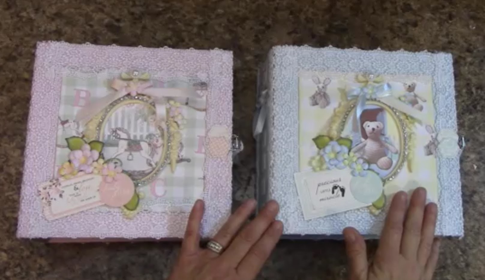 PART 1   TUTORIAL  8X8 BABY ALBUM - BOY OR GIRL  DESIGNS BY SHELLIE