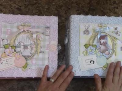 PART 2  TUTORIAL  8 X 8 BABY ALBUM BOY OR GIRL DESIGNS BY SHELLIE