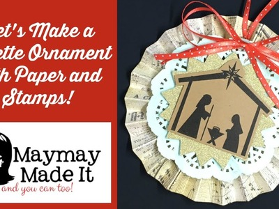Rosette Christmas Ornament Using Your Stamps as the Focal Image