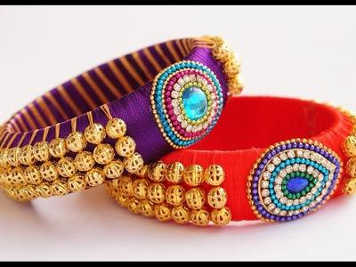 Silk thread gunghroo bangle making video(festive special)