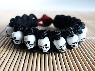 Armband, Skull Band Paracord Bracelet Tutorial, Skull Band