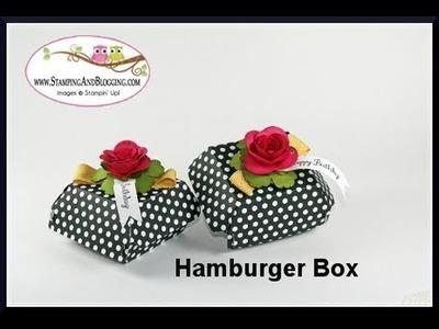 Super Easy Decorated Hamburger Box Tutorial