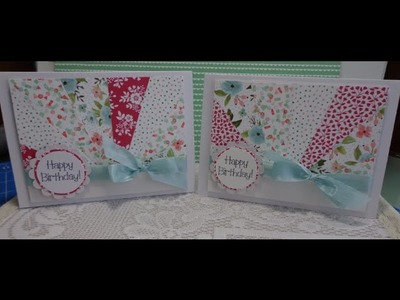 The quilted look card ~ using stampin up supplies ~ Aus