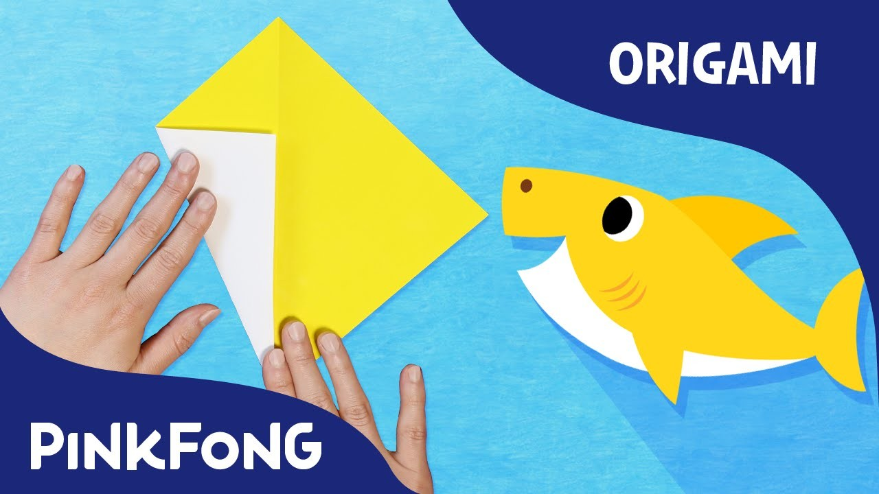 baby shark animal song with origami pinkfong origami