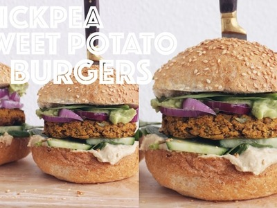 CHICKPEA SWEET POTATO BURGER RECIPE   Vegan, Oil-Free, GF & DELICIOUS