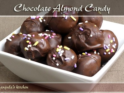 Chocolate Almond Candy Recipe by Manjula