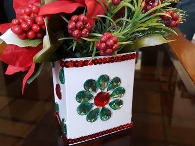 Christmas Flower Box - Dollar Tree Crafts