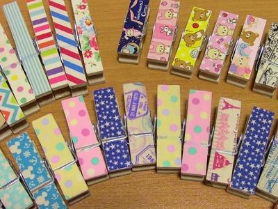 [Craft Update] Washi Tape Wooden Clothespins