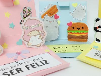 Cute POP-UP card.Perfect for best friends,kawaii crafts.
