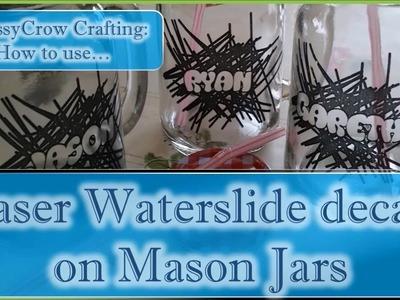 Decorating Mason Jar Glasses