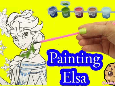 Disney Frozen Coloring Paint Set - Painting Queen Elsa Craft Fun Video Cookieswirlc