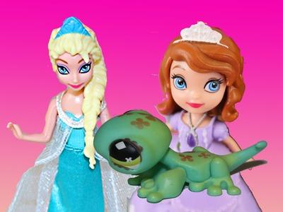 Disney Frozen Elsa Has LPS Trouble Sofia The First Talks to Littlest Pet Shop Toys DisneyCarToys