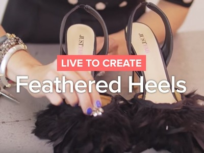 DIY Feathered Heels