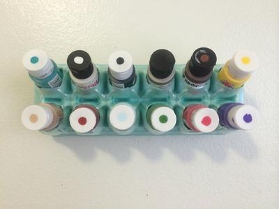 Egg Carton Acrylic Paint Wall Storage. Organizer