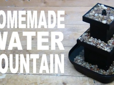 How To Build A Tabletop Water Fountain!