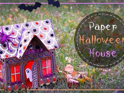 How To Make A Halloween Paper Gingerbread House