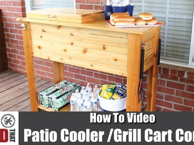 How to Make a Patio Cooler & Grill Cart Combo