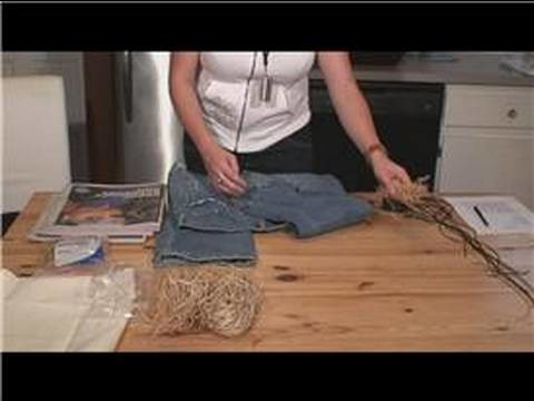 How to Make a Scarecrow : Assemble Pants for Scarecrow