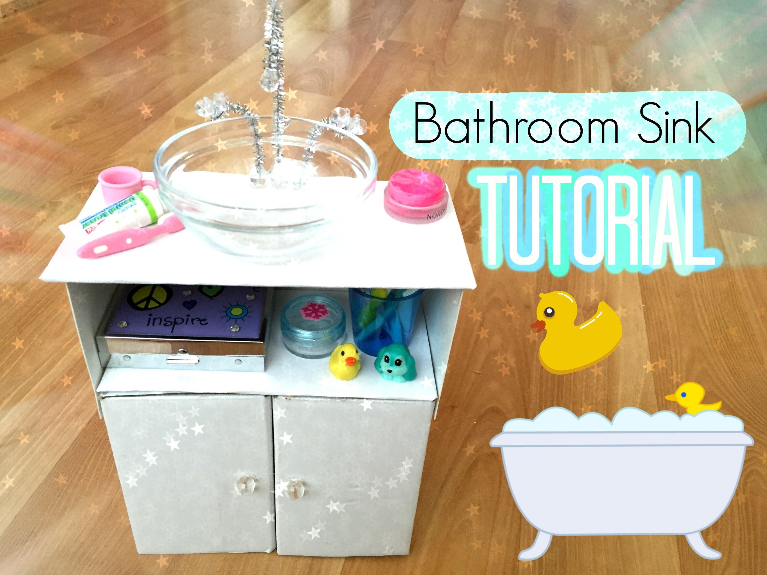 How To Make An American Girl Doll Bathroom Sink!