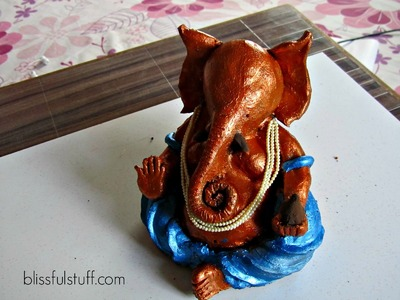 How to make ganesh idol at home with clay, Eco-friendly Ganesha. Ganpati murti