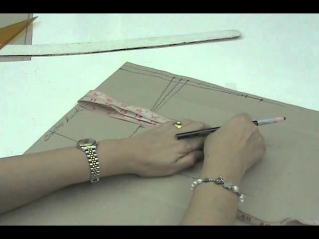 Lesson 2-33  EXTRA LARGE Back Skirt Part 4 - PATTERN MAKING OF A BASIC DRESS WITH WAISTLINE