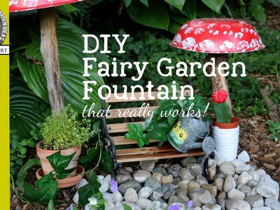 Make a Fairy Garden Fountain that Really Works. Empress of Dirt