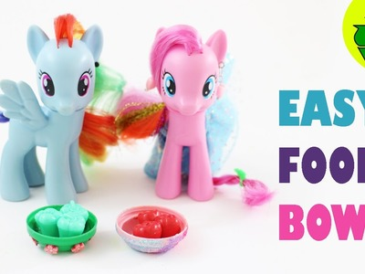Make Food Bowls for My Little Ponies and LPS - Easy Doll Crafts - simplekidscrafts