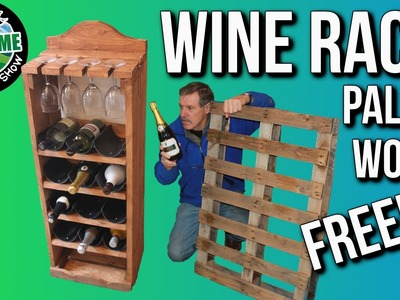 Making a Wine Rack from Free Pallet Wood, Cheap and Easy! | TA Outdoors