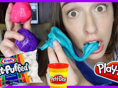 Making Marshmallow Play Doh!!!
