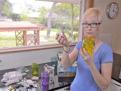 Mason Jars Crafts with Battery Operated Lights