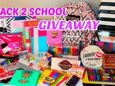 MASSIVE BACK TO SCHOOL GIVEAWAY - SCHOOL SUPPLIES, MAKEUP & MORE- closed