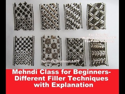 Mehndi Class for Beginners- Different Filler Techniques for Bridal Arabic Henna Design with Explanat