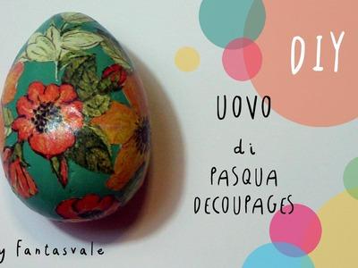 Pasqua fai da te: come fare uova di gesso DECOUPAGES (FACILE) by ART Tv