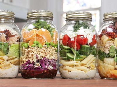 Pasta Salads In A Jar | Back-To-School Lunch Idea 2016