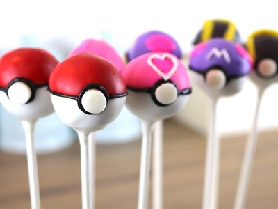 Pokeball Oreo Truffle Cake Pops | Collab with RedTedArt | CarlyToffle