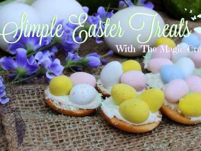Quick and Easy Easter Dessert   Chocolate Bird Nest Spring Cookie Recipe   Cute & Kid Friendly