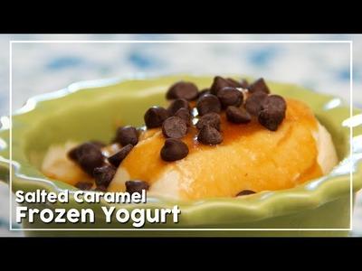 Salted Caramel Frozen Yogurt - Delicious Frozen Dessert Recipe - My Recipe Book By Tarika Singh