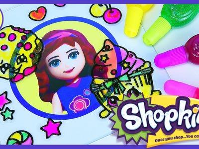 Shopkins Gelarti Geleez Window Sticker Gel Coloring Set - Kids Toys
