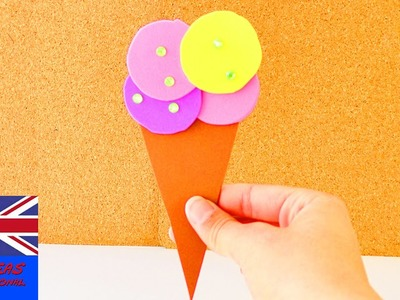 Summer decoration: Ice cream made out of foam sheets! | Birthday Card