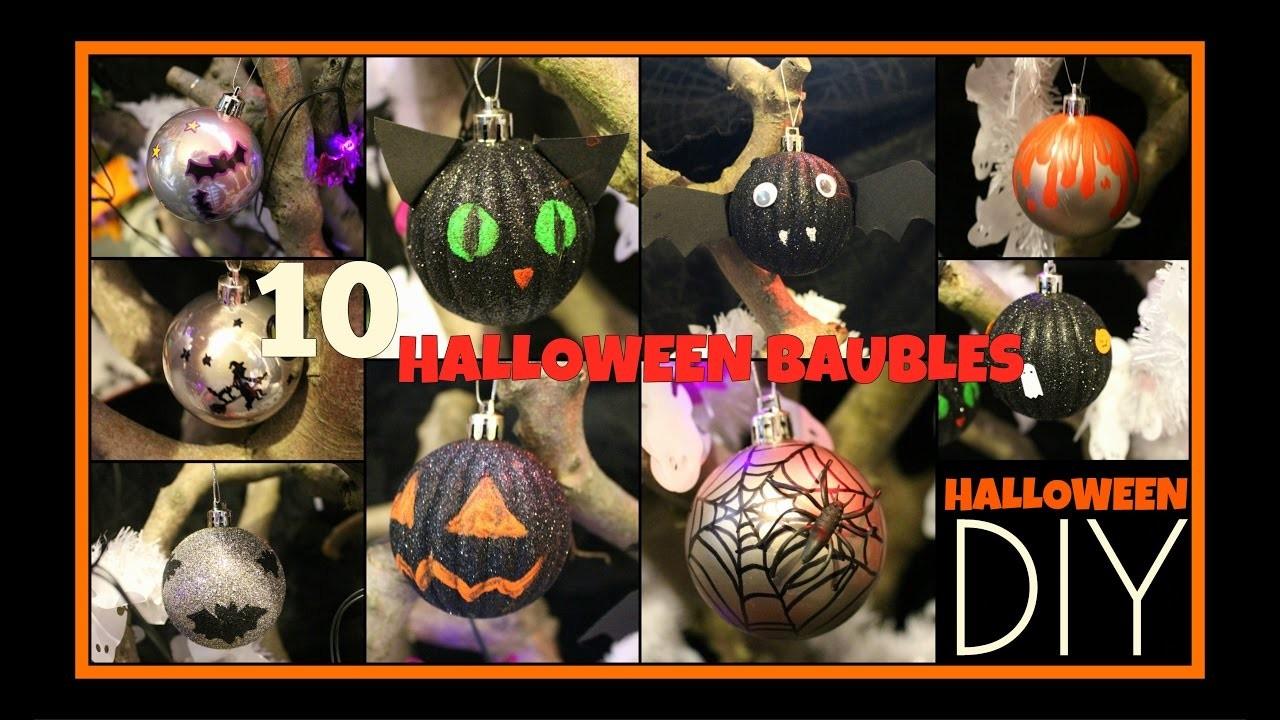 10 DIY HALLOWEEN BAUBLES - Spooky Tree Decoration Craft