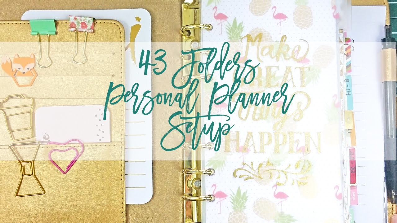 43 Folder System in a Personal Planner | Recollections Planner Setup