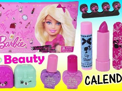 Barbie Makeup CALENDAR! 24 Days of Beauty LIP GLOSS Lipstick Eyeshadow! SHOPKINS